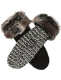 66 North Kaldi Knit Mittens, guantes, colour negro/blanco, color  - negro, tamaño 2