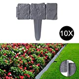 YITOO 10 X Pelouse Bord Lit Cadre Lit Contour Tranchant Palissade Spike Lit Jardin 25 Cm X 9, 5 Cm/Pc
