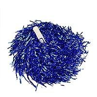 Hoter - Pompones para animadora (2 unidades, 0,025 kg por pieza, con mango) azul azul