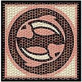 Para cocinar 2203-Horoscope mosaicos, diseño de peces, 20 x 20 cm