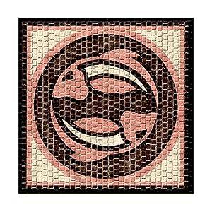 CUIT para cocinar 2203-Horoscope mosaicos, diseño de Peces, 20 x 20 cm
