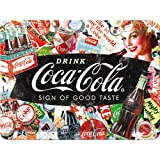 Nostalgic-Art 26227 Coca-Cola - Collage  | Retro Blechschild | Vintage-Schild | Wand-Dekoration | Metall | 15x20 cm