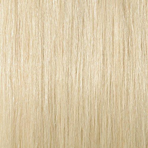 Clip in Extensions Echthaar Remy Haarverlängerung für komplette Haare 8 Tressen Doppelt Dicke 50cm-150g(#60 Weißblond)