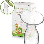 Tire-lait en silicone par Littlebloom – Tire-lait manuel sans BPA mains libres avec verrouillage et couvercles pour conserva