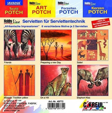 Hobby Line 49772 - Serviettenmischpackung Afrikanische Impressionen 6 Motive 2 Stück