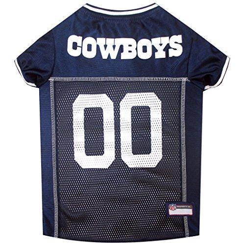NFL-Haustiertrikot, Hundetrikot, American Football, lizenziertes American-Football-Trikot für Hunde, 32 NFL-Teams verfügbar, in 6 Größen erhältlich, Football-Haustiertrikot, Sport-Netztrikot, Hundetrikot Dallas Cowboys Apparel