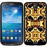 Hülle für Samsung Galaxy Mega 6.3 GT-I9205 - Gelb-braun Fantasie Muster by Costasonlineshop