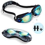 ehomiiii Zwembril, zwembril, geen lekken, uv-bescherming, anti-condens, zachte neusbrug van siliconen voor mannen, vrouwen, k