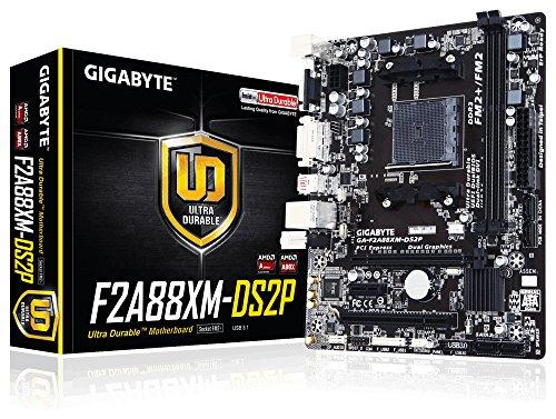 Gigabyte GA-F2A88XM-DS2P (rev. 1.0) A88X Socket FM2+ Micro ATX - Placa base (DIMM, DDR3-SDRAM, Dual, 1GB, 2GB, 4GB, 8GB, 16GB, 32GB, 64GB, AMD, AMD A,