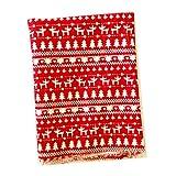 Sharplace Weihnachtsstoff Stoff Dekostoff Weihnachten Stoff Zum Nähen - Hirsche Rot