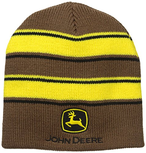john-deere-mens-stripe-beanie-brown-one-size