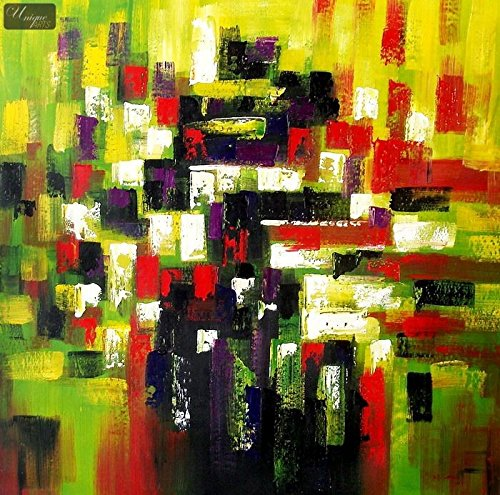 Abstract Art - Autmun in Hyde Park 121,9 x 121,9 cm pittura ad olio originale