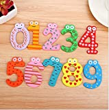 CraftDev Wooden Fridge Magnet Numbers 0-...