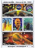 John Glenn und Mercury-Atlas 6 Weltraummission Minze Briefmarkenbogen mit 9 Briefmarken, die verschiedene Momente aus dieser Weltraummission - Mongolei / 1998/9 Stempel