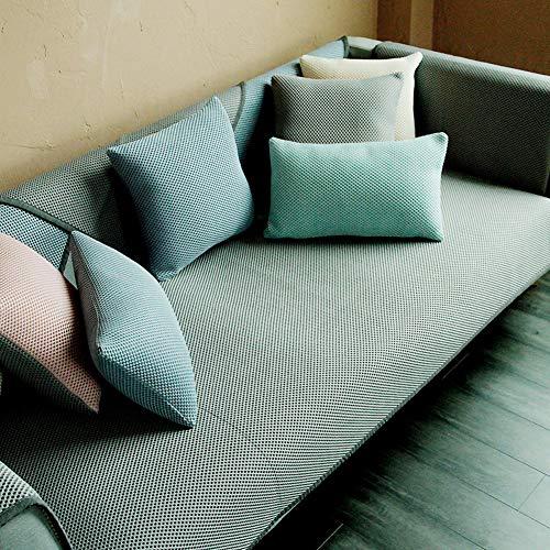 Nicht-Slip Ice Seide Sofabezug Für Haustiere Hund, Sommer Sectional Sofa Sofa Cover Protector Staub-Beweis Schmutzabweisend Multi-größe Sitzkissen-grau 80x210cm(31x83inch)