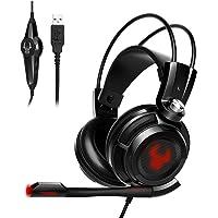 EasyAcc G1 Gaming Headset Virtual 7.1 Surround-Sound Gaming Kopfhörer mit Vibrationsfunktion,USB für PC,PS4