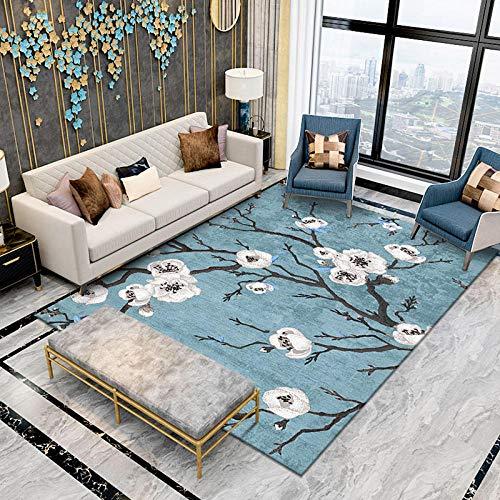 Tapis Accueil Bleu Grand Salon Tapis Moderne Pas Cher Abstraite Floral Chambre Tapis carpettes Chambres Doux pour Enfants Tapis carpettes Chambres de Coureurs