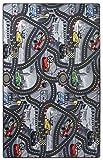 havatex Kinderteppich Cars - Farben: Rot, Blau, Grau | Spielteppich schadstoffgeprüft pflegeleicht strapazierfähig | Kinderzimmer Spielzimmer Zeichentrick Comic, Farbe:Grau, Größe:150 x 250 cm