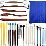 FineGood FineGood Lot de 26 outils de modelage d'argile polymère pour débutants et enfants