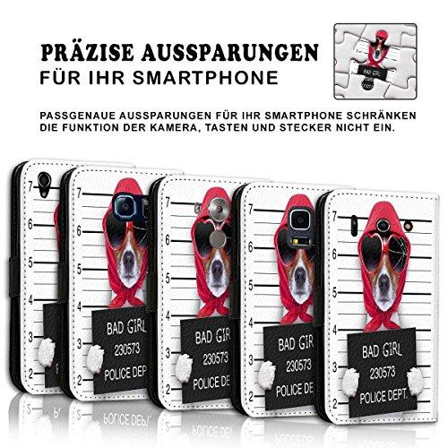 Wallet Book Style Flip Handy Tasche Case Schutz Hülle Schale Motiv Etui für Apple iPhone 6 / 6S - Variante UMV37 Design10 Design 2