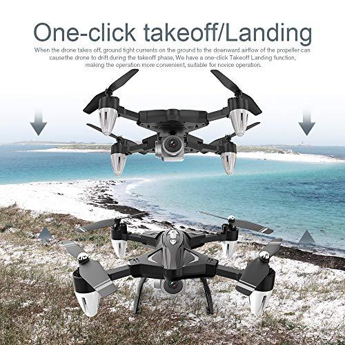 Neue F69 PRO Quadcopter-Drohne Drohne mit 1080P HD Kamera, RC Quadrocopter, Dual GPS und Follow me Funktion, Live Übertragung mit 120° Weitwinkel, Hochhaltung, Kopflos Modus (Schwarz)
