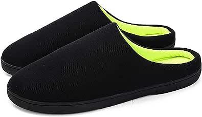 Keonec Homme Confortable Pantoufles en Mousse Coton Peluche Chaussons Anti-dérapant À Glisser Chaussures Femme Homme Accueil Slippers Chaussures