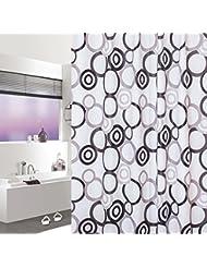 D G F Cortina de la ducha de PEVA Cuarto de baño interno Cortina de ducha de la alta calidad Niebla impermeable Multi-tamaño Opcional ( Tamaño : 300*200cm )