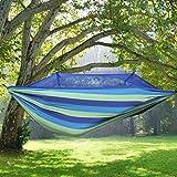 Amache Wddwarmhome Campeggio esterno con zanzariera amaca coperta addensare tela camera dormitorio anti ribaltamento sedia sospesa (260 * 130 cm) (Colore : Blu)