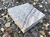 Granitsockel Sockel aus Granit Grabsockel Trittstein Granitplatte Vhiscont White 20cm x 20cm x 5cm