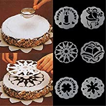 6 moldes de estampado para tartas, galletas, pasteles, decoración de pasteles, fondant