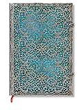 Silberfiligran Kollektion Maya Blau - Notizbuch Grande Unliniert - Paperblanks