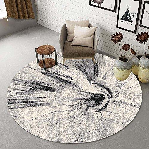 LSQ Runde Teppich Drucken Moderne Einfache Studie Hängenden Stuhl Balkon Nacht Schlafzimmer Mat,J,140CM -