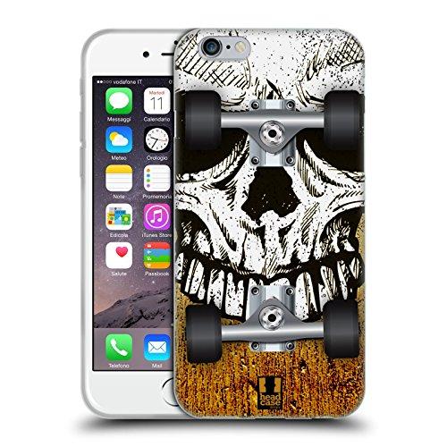 Head Case Designs Spritzer Skateboards Soft Gel Hülle für Apple iPhone 5 / 5s / SE Schädel