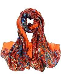 Smarstar Fashion Foulard Echarpe - Chiffon Soie pour Femme/Fille 180*110cm- Beaucoup de Couleur Disponibles