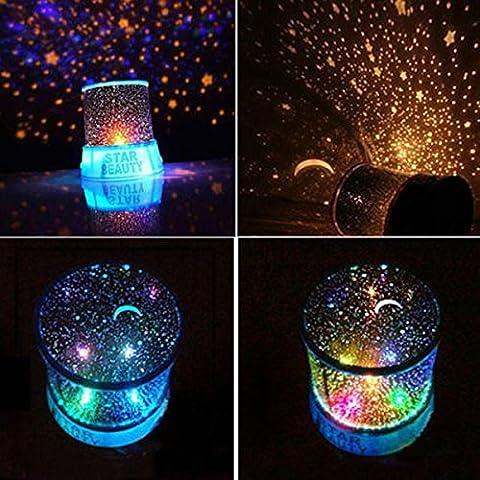 Estrella de Cosmos LED maestro de cielo de la noche estrellada del proyector lámpara de luz de espacio del sistema Solar (con cable USB)