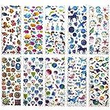 SAVITA 400+ Epoxy Aufkleber für Kinder Mädchen 3D Geschwollen Stickers für Bullet Journal Scrapbook Planer Muschel / Herz / Blumen / Süßigkeiten / Wolken / Taube / Driftflaschen / Unicorn Castle / Wal
