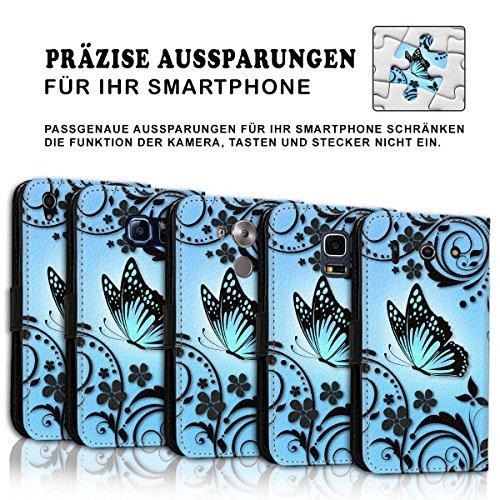 Wallet Book Style Flip Handy Tasche Case Schutz Hülle Schale Motiv Etui für Apple iPhone 6 / 6S - Variante UMV31 Design3 Design 11