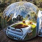 LJO Tunnel-Hinterhof-Transparente Luft-Hauben-Zelte im Freien, Einzelne aufblasbare Blasen-Zelt-Haus-Familie, die mit Gebläse und Reparaturausrüstung kampiert, A, 5 * 8m