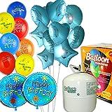 Helio de fiesta de cumpleaños Boy, 50gas de relleno, 20Globos, GLOBOS 11