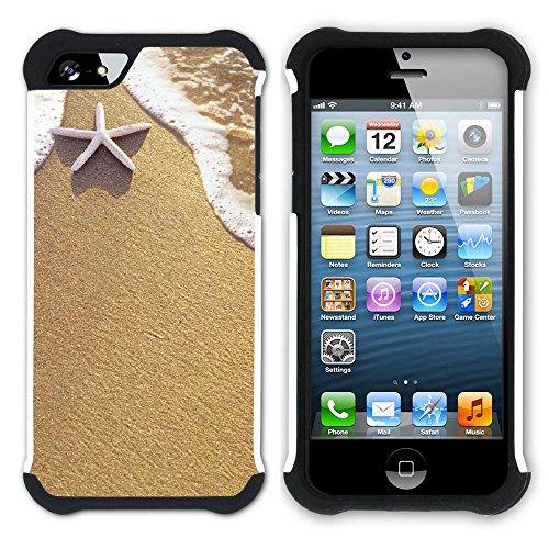 """Graphic4You """"Hello Summer"""" Seestern Sand Strand Hart + Weiche Kratzfeste Hülle Case Schale Tasche Schutzhülle für Apple iPhone SE / 5 / 5S Design #12"""