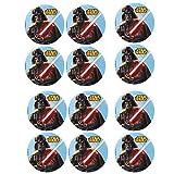 12 Mini Tortenaufleger Star Wars