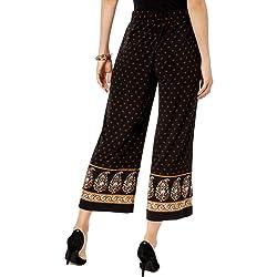 Michael Kors Women s Pants Gold Petite Capris Cropped Stretch Black P