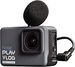 Noise Play Vlog 16MP 4K WiFi EIS Long Battery Waterproof Sports and Action Camera with External mic Support with Accessories