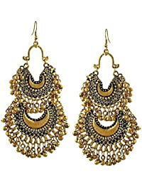Cardinal Stylish Designer Party Wear Traditional Afghani Earring For Women/Girls