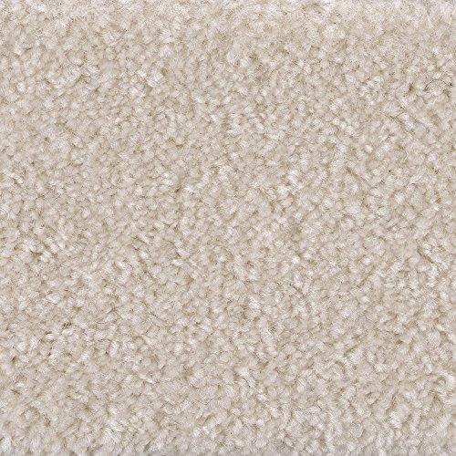 Teppichboden Auslegware Meterware Hochflor Langflor Velour meliert weiß beige 400 cm und 500 cm breit, verschiedene Längen, Variante: 3,5 x 4 m
