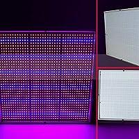 Zantec1365 - Lámpara LED de 120 W para plantas, espectro completo, creativa para plantas hidropónicas de interior, cultivo de verduras, horticultura, semillas industriales, regulación británica