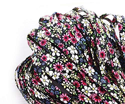 2yrd 1,8 m Rot, Rosa, Blau, Gelb, Schwarz, Weiß, PU-Faux-Leder Schnur Blume Weiche Stoff Ribbon Flache Kordel Boho-Stil Armband Halskette 8mm -