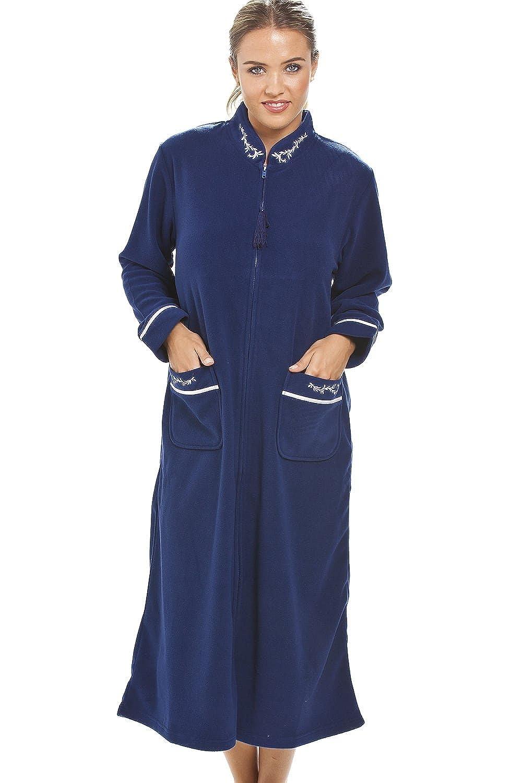 Robe de chambre   fermeture Éclair   bleu marine: camille: amazon ...