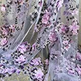 134,6cm Breite Perlen Hochzeit Spitze Stoff 3D Floral