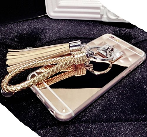 iPhone6S Shiny Hand Sling Case, Very Light Slim Elegent Reflective Mirror Style, WEIFA 2017 Newest Super Cool Personal CellPhone Cover Case For Apple iPhone 6Plus Silver !Gold